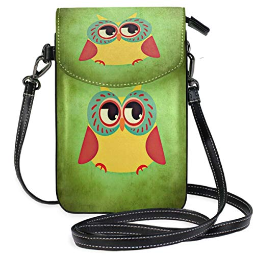 XCNGG Owl Colorful Funny Cell Phone Purse Wallet for Women Girl Small Crossbody Purse Bags