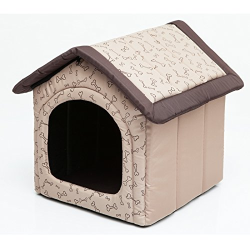 HobbyDog Doghouse R3 52 x 46 cm Beige avec os