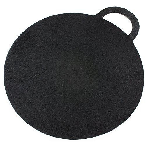 Andrew James Pierre de Cuisson Pelle a Pizza en Fonte | Convient pour les Pizzas Scone et Crêpes | Diamètre de 30 cm | Surface Antiadhésive