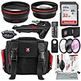 58MM HD 2.2X Telephoto and 0.43X Wide Angle + Xpix Photo Accessories w/Deluxe Photo and Travel Bag for Canon Rebel (T6 T6s T6i T5i T4i T3i T3 T2i T1i), EOS (700D 650D 600D 1100D 550D 500D 100D)