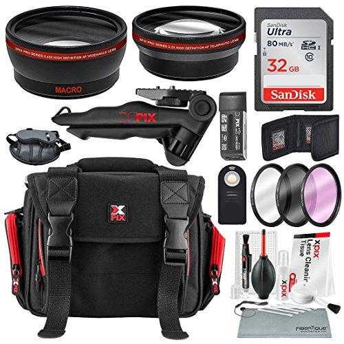 Photo Savings 58Mm Hd 2.2X Telefoto E 0.43X Grande Angular + Acessórios De Foto Xpix Com Foto De Luxo E Bolsa De Viagem Para Canon Rebel(T6 T6S T6I T5I T4I T3I T3I T1I), Eos(700D 650D 600D 1100D 550D