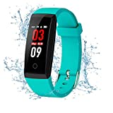 Fitness Tracker,Kirlor Colorful Screen Smart Bracelet with Heart Rate Blood Pressure Monitor,Smart Watch Pedometer Activity Tracker Bluetooth for Android & iOS (Green)