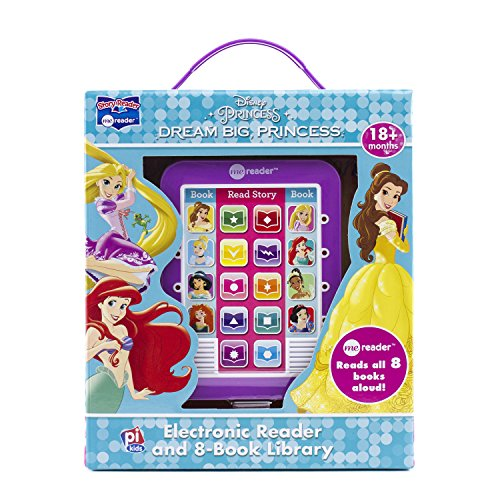 Disney Princess Ariel, Rapunzel, Belle, and More!- Dream Big Princess Me Reader and 8-Book Library - PI Kids