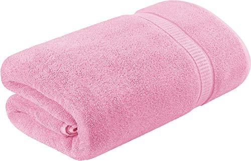 Utopia Towels - Badetuch groß aus Baumwolle, Einzelpackung 600 g/m² - Duschtuch, 90 x 180 cm (Rosa)