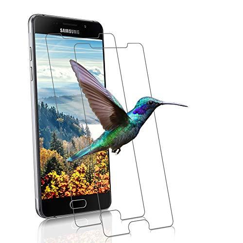 wsiiroon Panzerglas Schutzfolie kompatibel mit Samsung Galaxy A5 2016, [2 Stück] 99% HD Klar Displayschutzfolie, 9H Härte Panzerglasfolie, Blasenfreie Panzerfolie Schutzglas