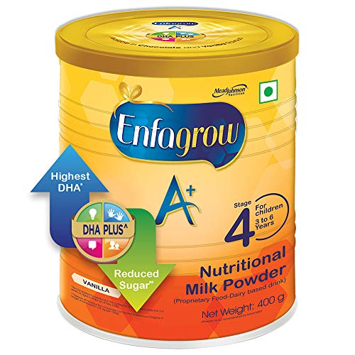 Enfagrow A+ Nutritional Milk Powder Health Drink for Children (3+ years), Vanilla 400g