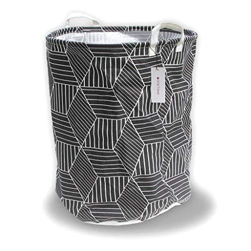 ONETAKE 60L ランドリーバスケット 洗濯かご 雑貨収納 シンプルなデザイン 大容量 防水 折り畳み式 (黒)