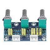 Weikeya Pre-Amplificador Módulo, 3 Canales Pre-Amplificador Módulo Viraje Junta Bajo Ajustamiento por Audio Xh2 .54 3p Enchufe