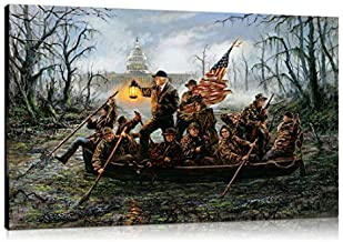 Artwu Donald Trump,Crossing,The Swamp Wall Art Home Wall Decorations for Bedroom Living Room Oil Paintings Canvas Prints 3 sizes-716 (24x36inch(Unframed))