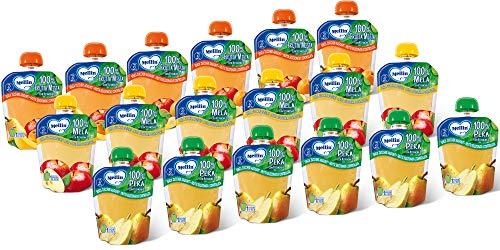 Mellin, Pouch Merenda 100% Frutta con Vitamina C - Mix Gusti - 18 Confezioni da 90 gr
