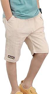 [サユム]ボーイズ 子供 パンツ ショートパンツ 五分丈 夏 薄手 アウトパンツ 新番 ファッション 可愛い ニート おしゃれ