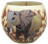 Him Elefant Cristal/portavelas candelabros, Multicolor, 11x11x9 cm