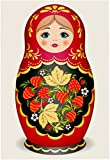 DIY Handwork Store 5D Handmade Full Round with AB Drills Russian Doll Diamond Painting Kit for Adults Kids Cross Stitch Mosaic Arts Crafts Home Decor(11.81''x 15.75'')