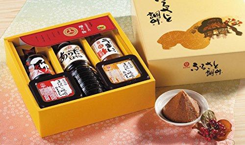 ふるさと調味セット 梅屋 山内本店 無添加味噌・煮炊き専用しょう油・だしつゆ・お酢の詰め合わせギフト
