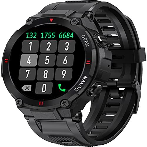 SmartWatch Orologio Fitness Tracker Uomo, Chiamata Bluetooth Activity Tracker Contapassi Cardiofrequenzimetro Pressione Ossigeno nel Sangue Meteo Interfacce Personalizzate per Android iOS