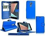 PIXFAB Schutzhülle für Vodafone Smart N8 VFD 610, Leder, inkl. Bildschirmschutzfolie, Blau