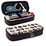 XCNGG Kosmetiktasche mit Federmäppchen Japanese Food Pencil Case Big Capacity Pen Case Desk Organizer with Zipper - 8x3.5x1.5 Inches