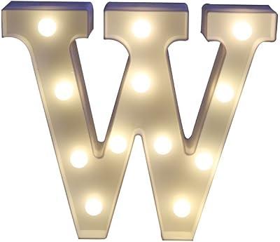 Missley Lettere solide bianche del alfabeto decorativo LED della lettera del LED per la decorazione di nozze del partito (W)