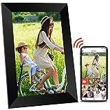 Cornice portafoto digitale WLAN, 10 pollici con WiFi, touch screen HD ad alta risoluzione, rotazione automatica, condivisione foto video tramite app
