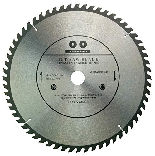 Inter-Tech Craft 315mm Hoja de sierra Top calidad Sierra circular para madera 315x 30–25mm, 60dientes)