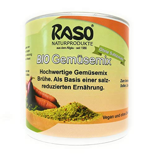 Gemüsebrühe HOCHWERTIG RASO 250g BIO GEMÜSE MIX ohne Salzzusatz Gemüsesuppe GRATIS VERSAND
