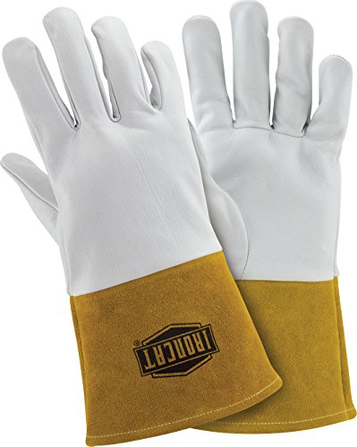 West Chester - 6141/XL IRONCAT 6141 Kidskin TIG Welding Gloves – X-Large, Kevlar Thread Welding Gloves with 4 in. Gold Cuff, Straight Thumb