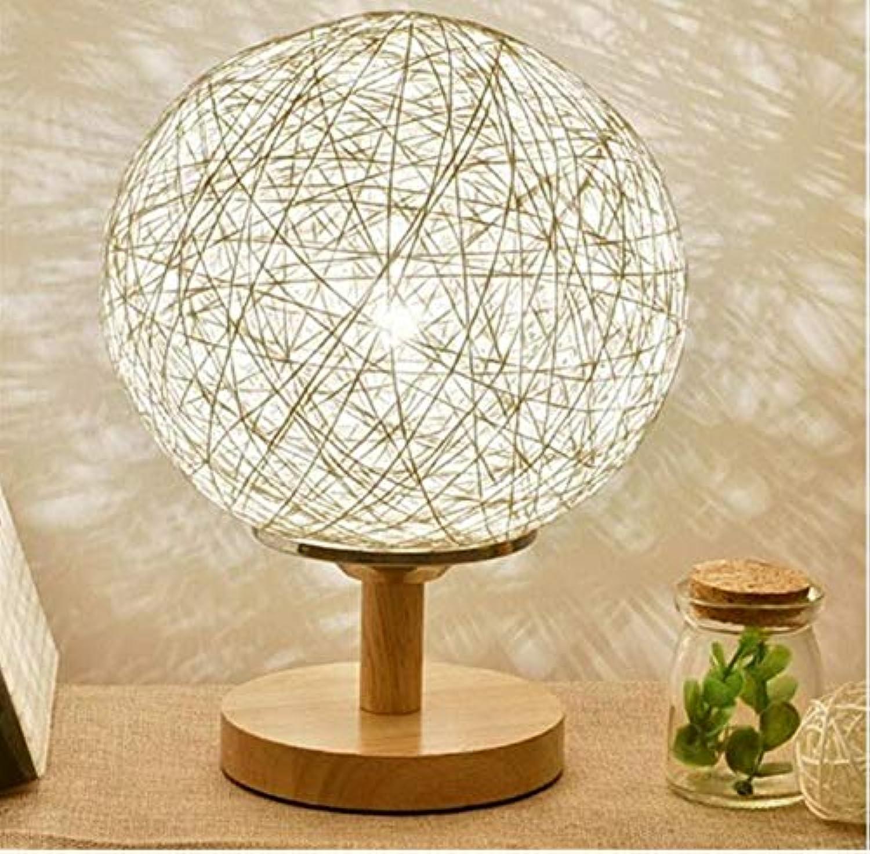 Modernes Holz schützen Augenlicht Schreibtischlampe für Zuhause Schlafzimmer Wohnzimmer Dekoration Nachttischlampe