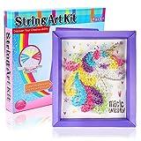 Toyssa Unicorno String Art Kit per Bambini Bricolage Creativo Fai da Te Unicorno Kit Lavoretti Creativi Natale Compleanno Regalo per Bambini 6 7 8 9 10 Anni
