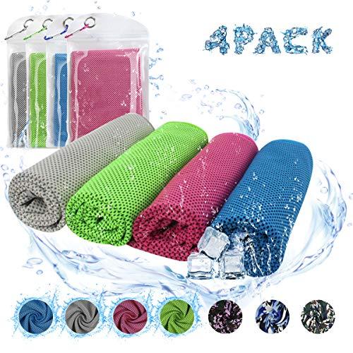 ECOMBOS Kühlendes Handtuch - Microfaser Handtuch Kühles Fitness Sporthandtuch Cooling Towel Atmungsaktives Schnell Trocknend Eiskaltes Handtuch für Yoga Running Golf Camping
