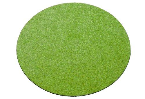 Deko-Matten-Shop Fußmatte Classic, Schmutzfangmatte, rund, 50 cm Durchmesser, grün, in 9 Größen und 11 Farben
