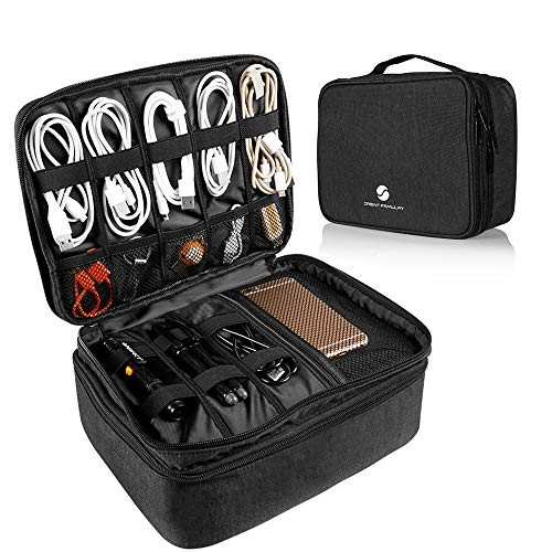 Travel Electronics Organizer, Waterproof Cable Organizer Bag for...