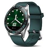 Neue wasserdichte Smartwatch Aus Rostfreiem Stahl Herren Sport Fitness Herzfrequenz Blutdruckmessung Smartwatch Grün