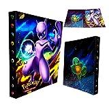 Carpeta de Titular de Tarjetas de Pokemon, álbumes de Entrenador Pokemon Tarjetas GX EX, álbumes de Tarjetas coleccionables, 30 páginas - Puede Contener hasta 240 Tarjetas, (Mewtwo)