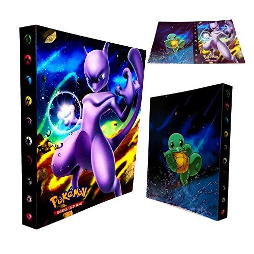 Dorara Pokemon Kartenhalter, Pokemon Karten GX EX Trainer Alben, Sammelkartenalben, 30 seitig Kann bis zu 240 Karten aufnehmen, (Mewtwo)