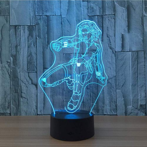 Ilusión Lámpara de ilusión visual 3D Viuda Acrílico transparente Luz nocturna LED Tarifa Lampa Cambio de color Mesa táctil Bulbing Lambas