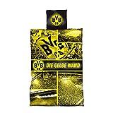"""Borussia Dortmund, Biancheria da letto """"GELBE WAND"""", nero-giallo, 155x220"""