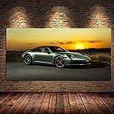 Supercars Poster und Drucke 911 Carrera S Silber Auto Sport