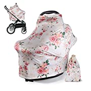 DSYJ Nursing Cover for Breastfeeding Super Soft Cotton Multi Use for Baby Car Seat Covers Canopy Shopping Cart Cover Scarf Light Blanket Stroller Cover