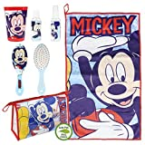 Set de neceser de baño con 6 piezas para niño de Disney Mickey azul TU