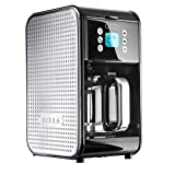 Bella Dots Collection 2.0 Programmable Coffee Maker with Glass Carafe Black/Silver