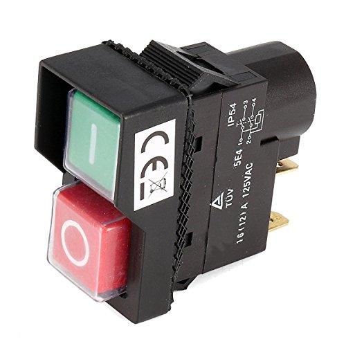 ILS - 125V KJD17 Interruttore IP54 Interruttore rilascio senza tensione a 4 pin Interruttore a pulsante in plastica