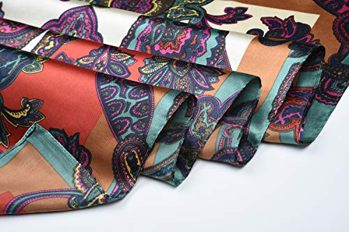 35″ Ladies Satin Square Silk Like Hair Scarves and Wraps Headscarf for Sleeping