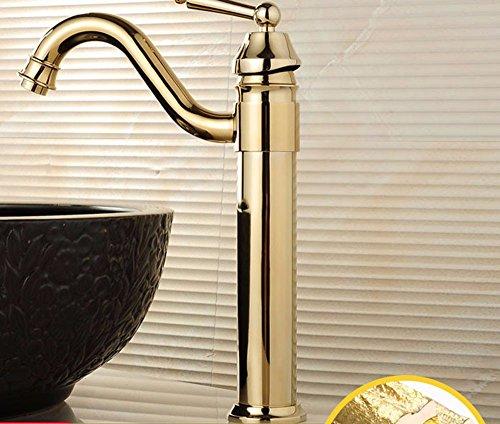 Eengreepsmengkraan voor kraan koud en warm water in retro stijl Europeo, Rame, badkamer, wasmachine, warm en koud wassen, Rialzo, gat voor enkele armatuur 5