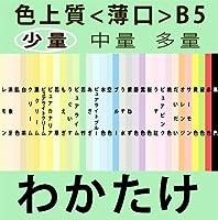 色上質(少量)B5<薄口>[若竹](100枚)