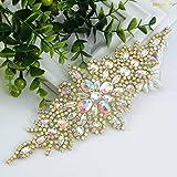 ShiDianYi Bridal Wedding Dress Sash Belt Applique with AB Stone Belt Waist Decoration rhinestone bridal sash for bridal shower