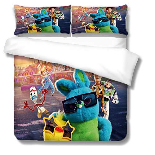 XWXBB Toy Story - Juego de ropa de cama para niños, funda nórdica transpirable y cómoda, apta para todas las estaciones, funda nórdica hipoalergénica (Mario1, SuperKing260 x 230 cm)