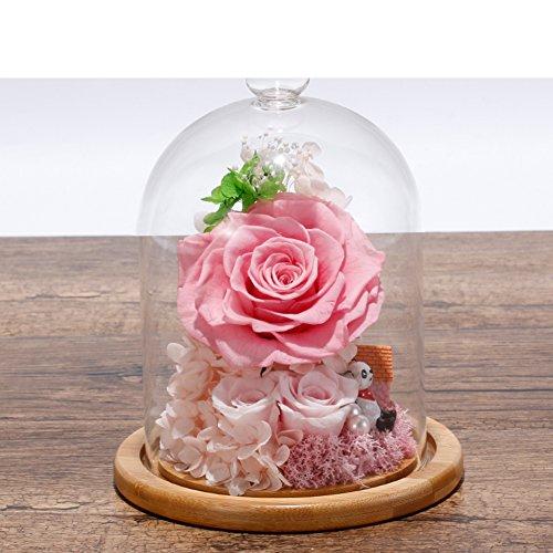 FLCP Artificial Flowers Fleur éternelle/Valentine/Rose séchée-H
