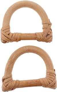Lovoski 2x Wooden Bag Handle Loop Replacement For DIY Handbag Purse Making Craft