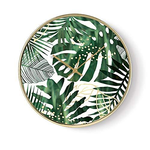 Jack Mall Modern Minimalista 12 Pollici Acrilico Silenzioso Arabo Orologio da Parete Digitale Artista Astratto Forniture per la casa (Colore : Turtle Leaf)
