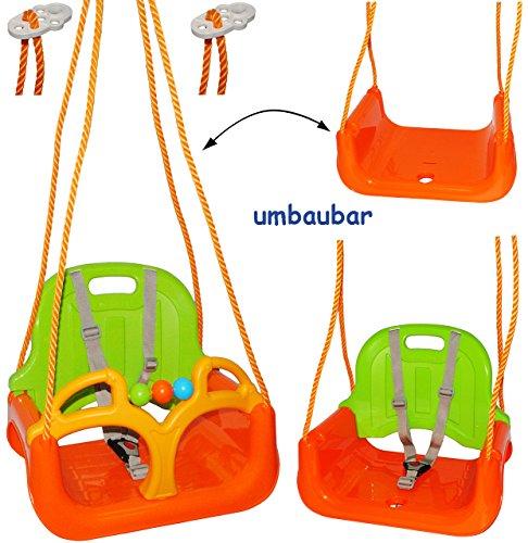 alles-meine.de GmbH 3 in 1 : Babyschaukel Gitterschaukel - stabile Schaukel - für Kinder - Innen und Außen / Garten - für Baby´s Kinder aus Kunststoff / Plastik - Kinderschaukel